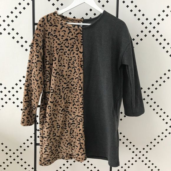SHEIN Tops - Two Tone Cheetah Tunic with Pockets